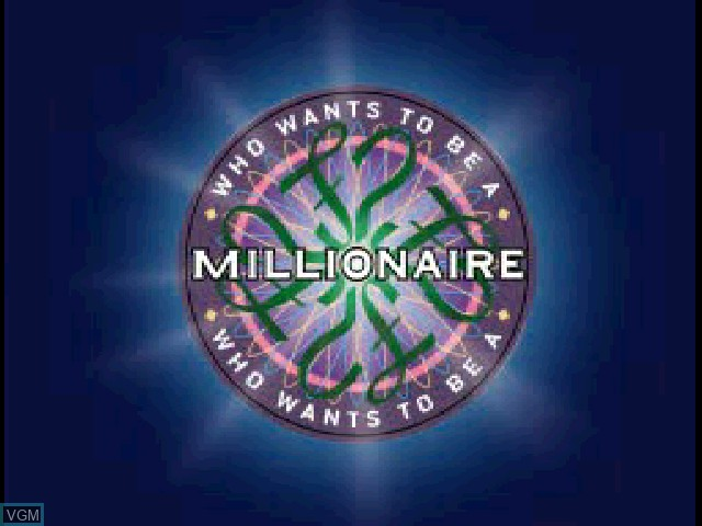 Title screen of the game Who Wants to Be a Millionaire on Sony Playstation