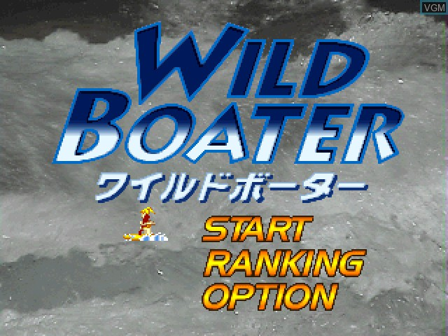 Title screen of the game Wild Boater on Sony Playstation
