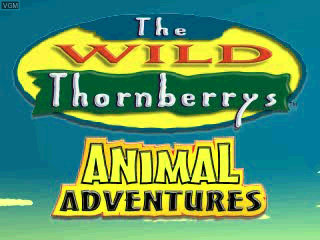 Title screen of the game Wild Thornberrys, The - Animal Adventures on Sony Playstation