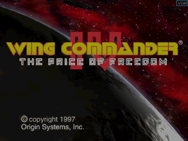 Title screen of the game Wing Commander IV - The Price of Freedom on Sony Playstation