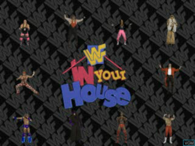 Title screen of the game WWF In Your House on Sony Playstation