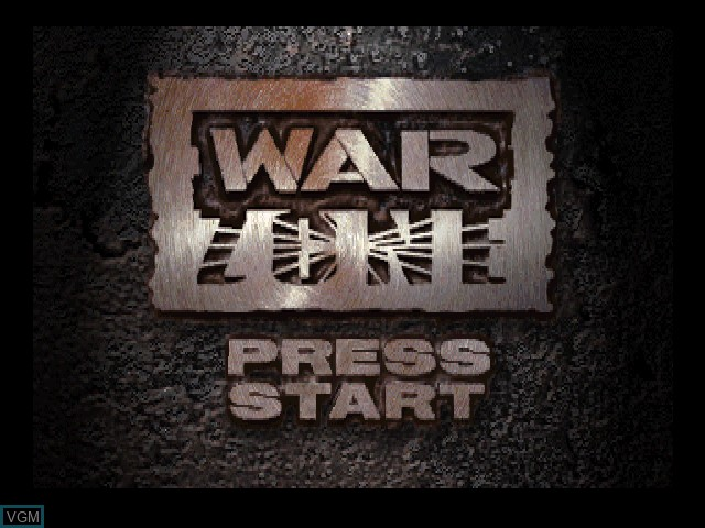 Title screen of the game WWF War Zone on Sony Playstation