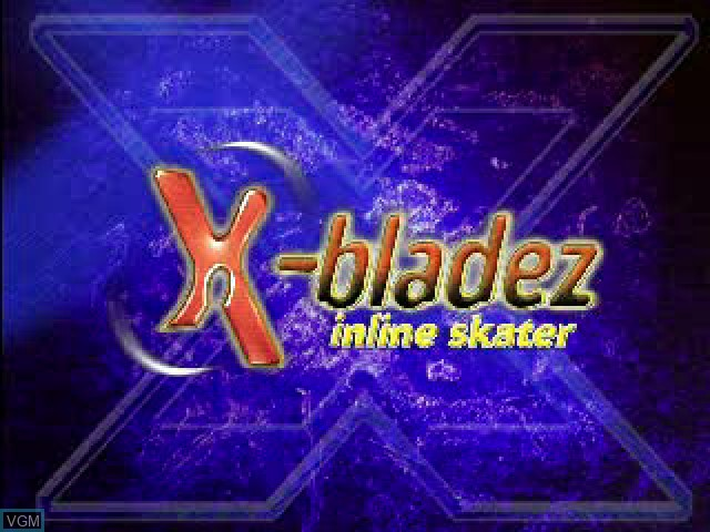 Title screen of the game X-Bladez - Inline Skater on Sony Playstation