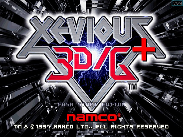 Title screen of the game Xevious 3D-G+ on Sony Playstation