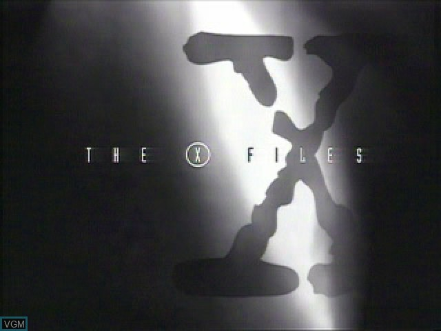 Title screen of the game X-Files, The on Sony Playstation