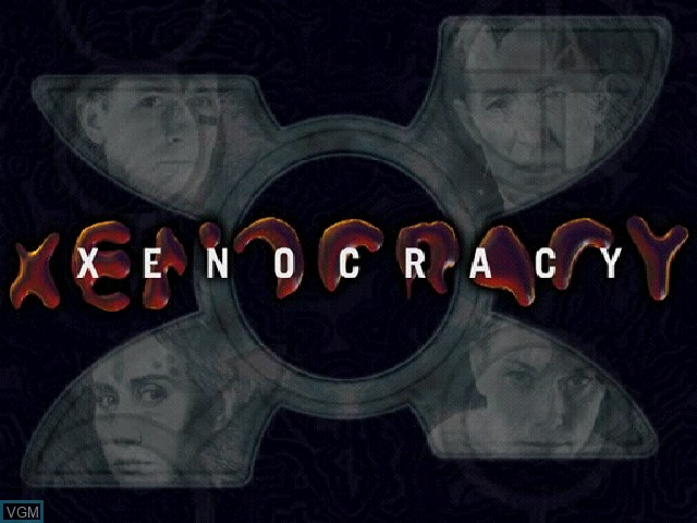 Title screen of the game Xenocracy - The Ultimate Solar War on Sony Playstation