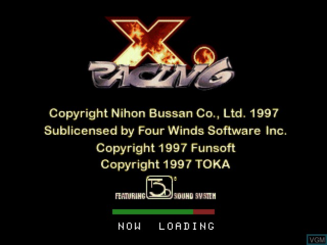 Title screen of the game X.Racing on Sony Playstation