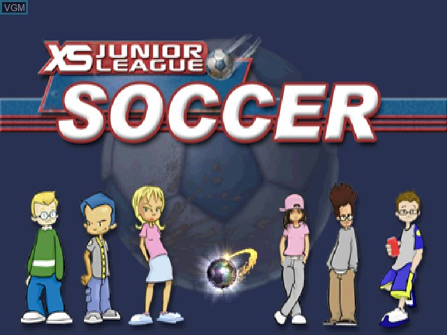 Title screen of the game XS Junior League Soccer on Sony Playstation