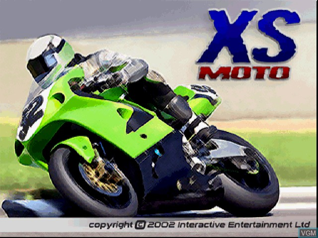 Title screen of the game XS Moto on Sony Playstation