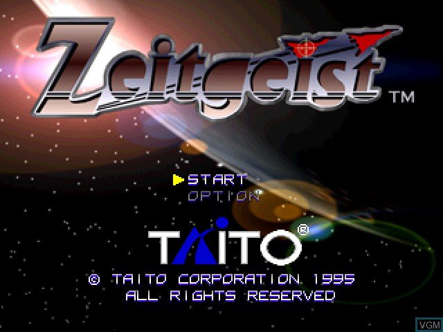 Title screen of the game Zeitgeist on Sony Playstation