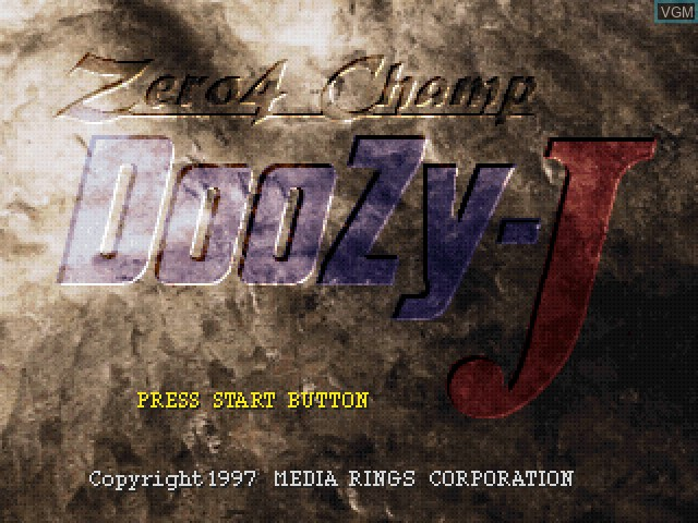 Title screen of the game Zero4 Champ DooZy-J on Sony Playstation