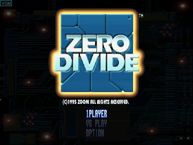 Title screen of the game Zero Divide on Sony Playstation