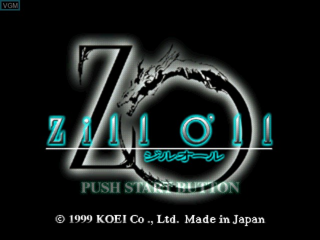 Title screen of the game Zill O'll on Sony Playstation