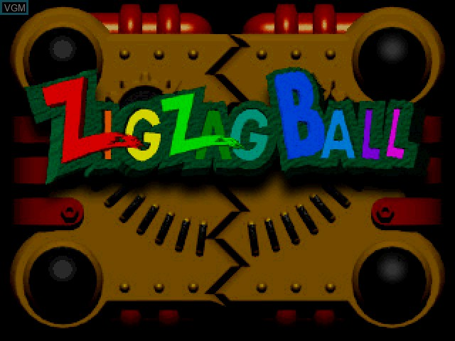 Title screen of the game Zig Zag Ball on Sony Playstation