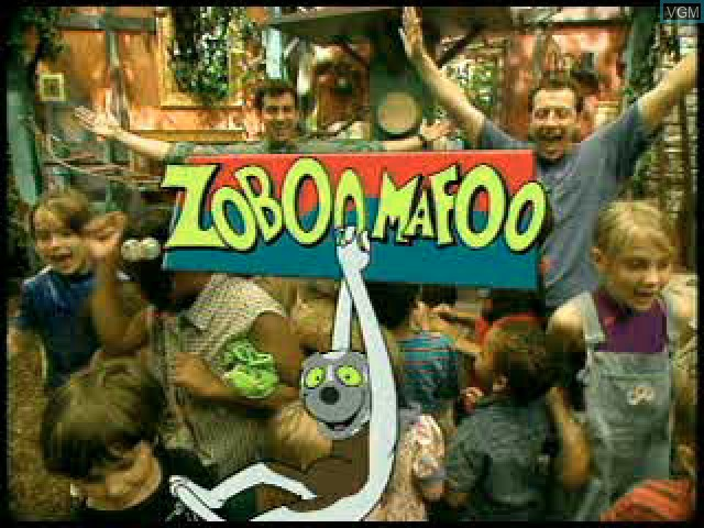 Title screen of the game Zoboomafoo - Leapin' Lemurs! on Sony Playstation