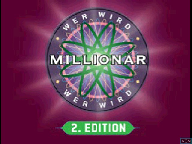 Title screen of the game Wer wird Millionaer - 2. Edition on Sony Playstation