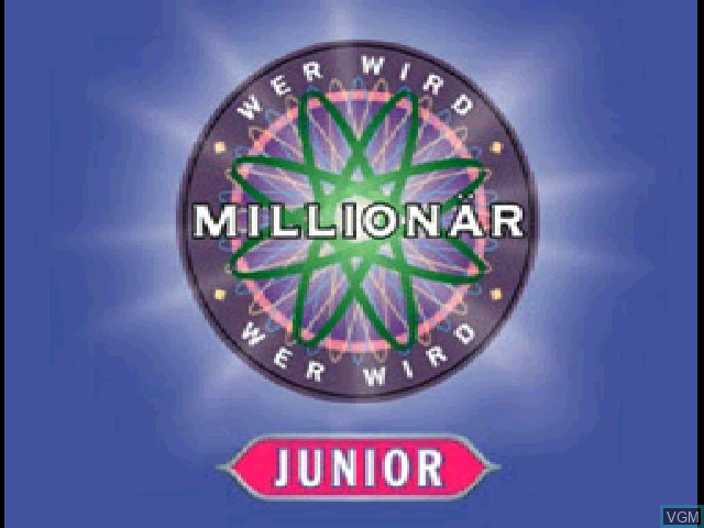 Title screen of the game Wer wird Millionaer - Junior on Sony Playstation