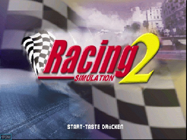 Title screen of the game Racing Simulation 2 on Sony Playstation