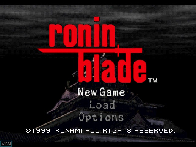 Title screen of the game Ronin Blade on Sony Playstation