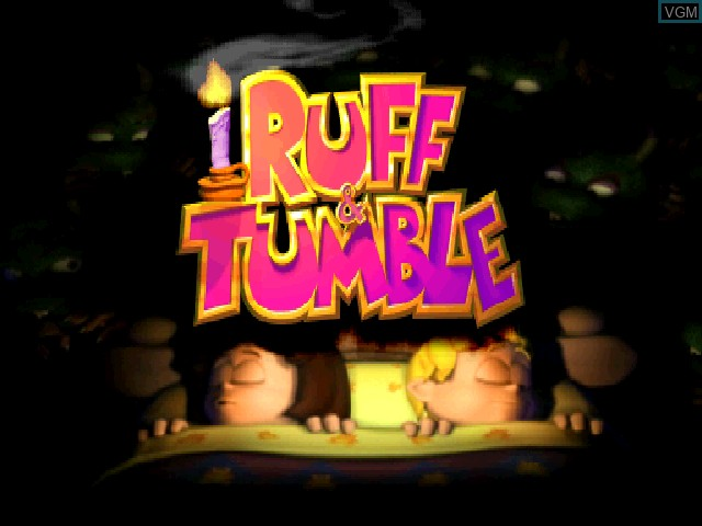 Title screen of the game Ruff & Tumble on Sony Playstation