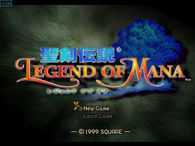 Title screen of the game Seiken Densetsu - Legend of Mana on Sony Playstation