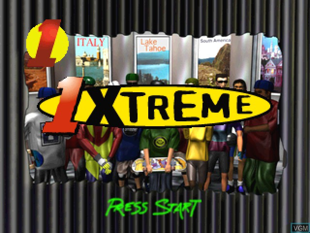 Title screen of the game 1Xtreme on Sony Playstation