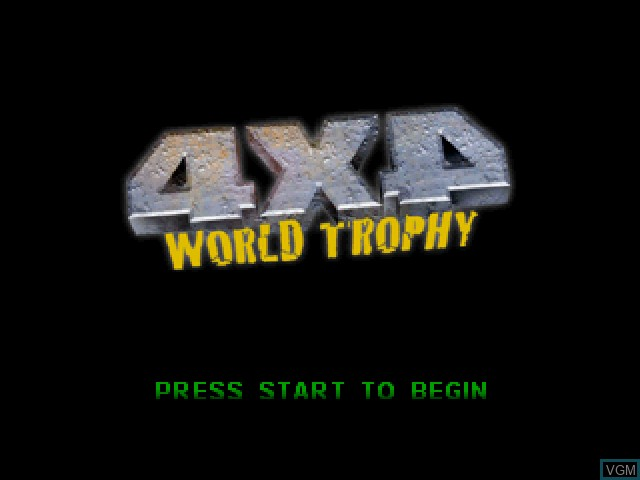 Title screen of the game 4x4 World Trophy on Sony Playstation