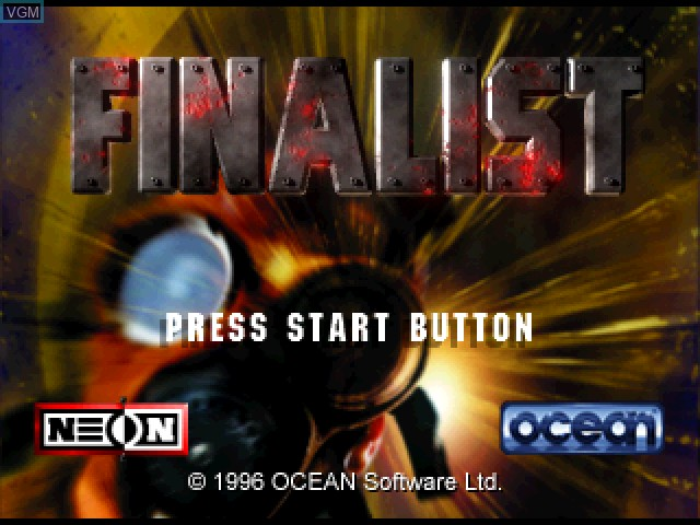 Title screen of the game 3D Mission Shooting - Finalist on Sony Playstation