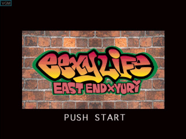 Title screen of the game East End x Yuri - Eexy Life on Sony Playstation