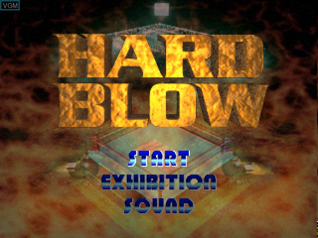 Title screen of the game Hard Blow on Sony Playstation
