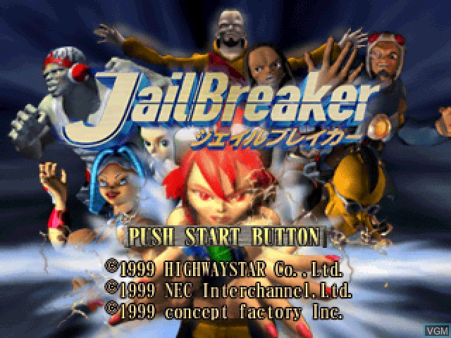 Title screen of the game JailBreaker on Sony Playstation