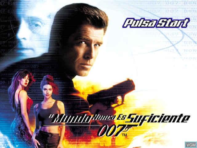 Title screen of the game 007 - El mundo nunca es suficiente on Sony Playstation