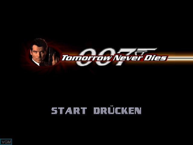 Title screen of the game 007 - Der Morgen stirbt nie on Sony Playstation