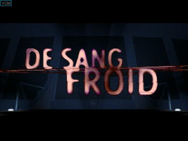 Title screen of the game De Sang Froid on Sony Playstation