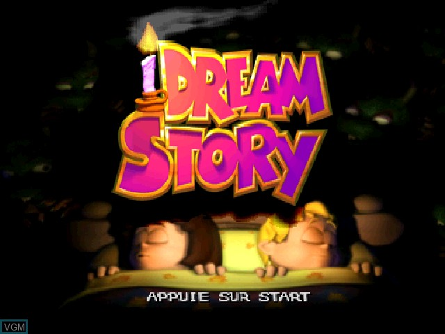 Title screen of the game Dream Story - Les Aventures de Tim et Lola on Sony Playstation
