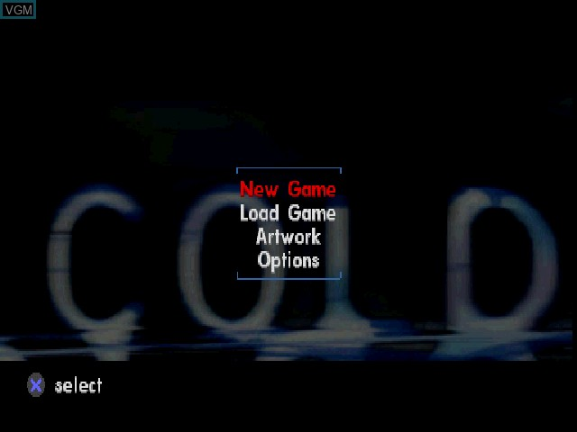 Title screen of the game In Cold Blood on Sony Playstation