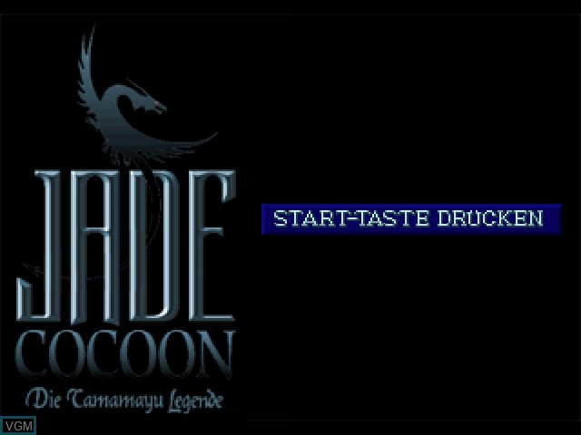 Title screen of the game Jade Cocoon - Die Tamamayu Legende on Sony Playstation