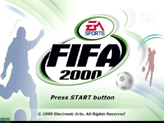 Title screen of the game FIFA 2000 - Major League Soccer on Sony Playstation