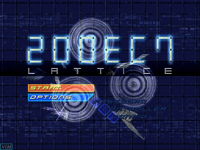 Title screen of the game Lattice - 200EC7 on Sony Playstation