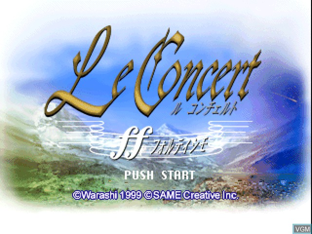 Title screen of the game Le Concert - ff - Fortissimo on Sony Playstation