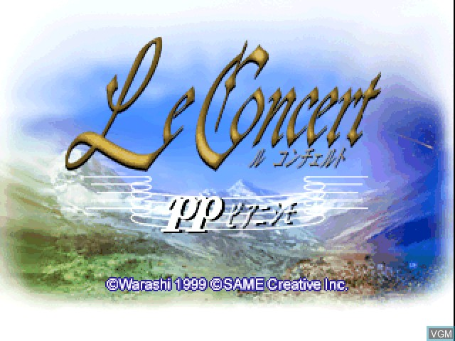 Title screen of the game Le Concert - pp - Pianissimo on Sony Playstation