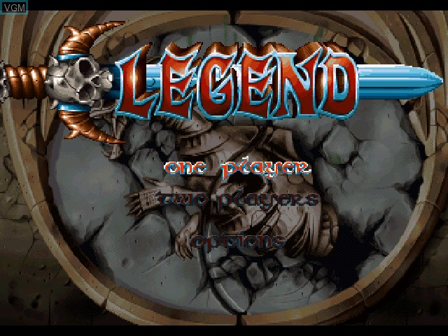 Title screen of the game Legend on Sony Playstation
