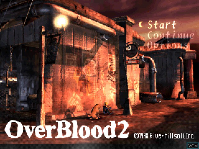 Title screen of the game OverBlood 2 on Sony Playstation