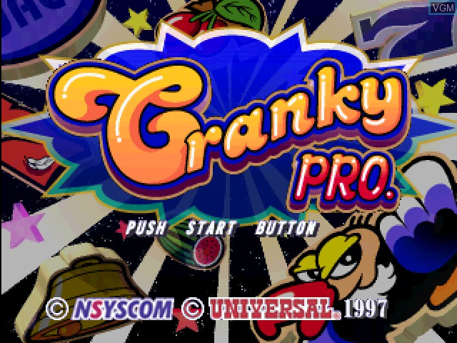 Title screen of the game Pachi-Slot Kanzen Kouryaku - Cranky Pro on Sony Playstation