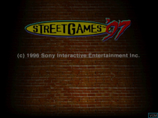Title screen of the game Street Games '97 on Sony Playstation
