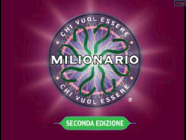 Title screen of the game Chi Vuol Essere Milionario - Seconda Edizione on Sony Playstation