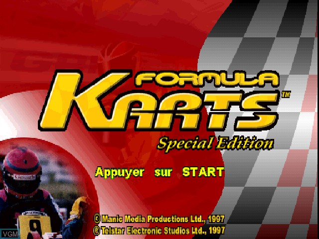 Title screen of the game Elf Masters presente Formula Karts - Special Edition on Sony Playstation