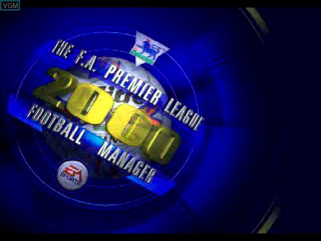 Title screen of the game F.A. Premier League Football Manager 2000, The on Sony Playstation