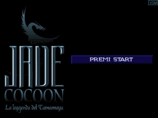 Title screen of the game Jade Cocoon - La Leggenda del Tamamayu on Sony Playstation