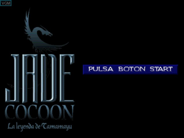 Title screen of the game Jade Cocoon - La Leyenda de Tamamayu on Sony Playstation